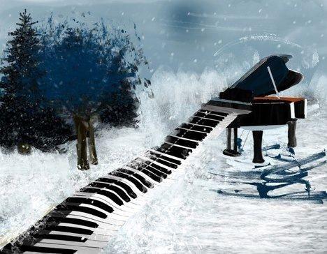 Resultado de imagen de PIANO winter