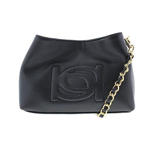Bebe Womens Lara Faux Leather Embossed Crossbody Handbag Black Small      Continue to the product at the image link.Note It is affiliate link to  Amazon. e3418cab9f6bb
