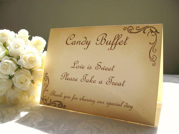 Vintage Inspired 5 x 7 Candy Buffet Wedding by EngLavenderStudios, $8.50