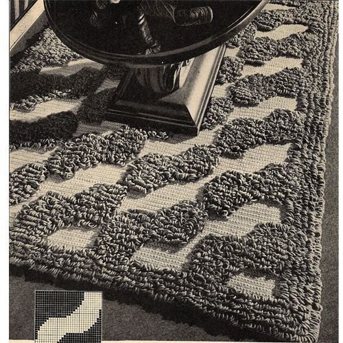 Large Crochet Rug Pattern With Loop Stitching Tapetes Pinterest