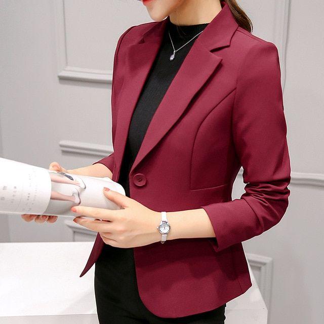 Photo of B1655 Autumn Winter Version Women Business Slim Blazers Suit Size S Color 1