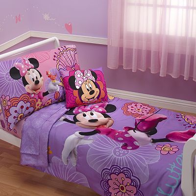 Disney Mickey Mouse  Friends 4-pc Minnie Mouse Bed Set by Crown