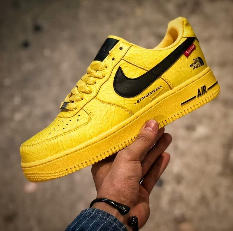 Nike Air Force 1 X Supreme X The North Face Yellow | Hype