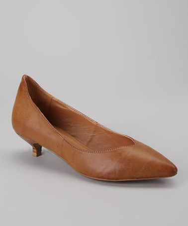 Natural Chaser Kitten Heel by Gwyneth Shoes