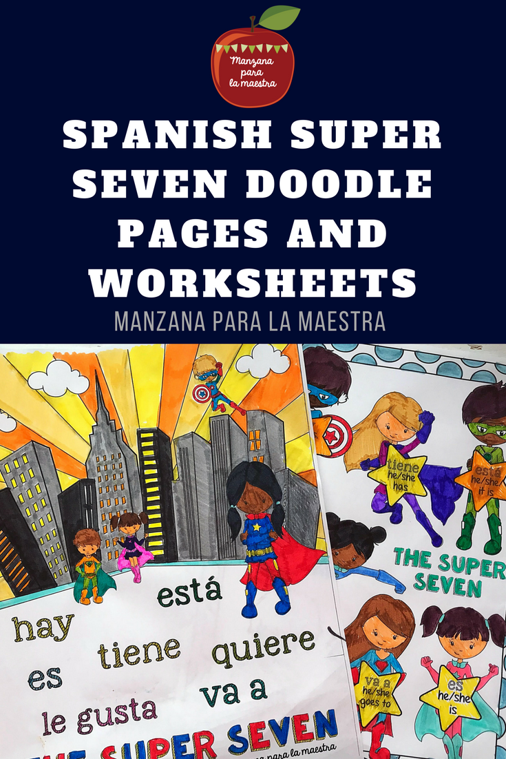 Engage Your Students With These Super Seven Present Tense Doodle Notes For The Beginner Spanish Classroom Learning Spanish Spanish Spanish Teaching Resources [ 1102 x 735 Pixel ]