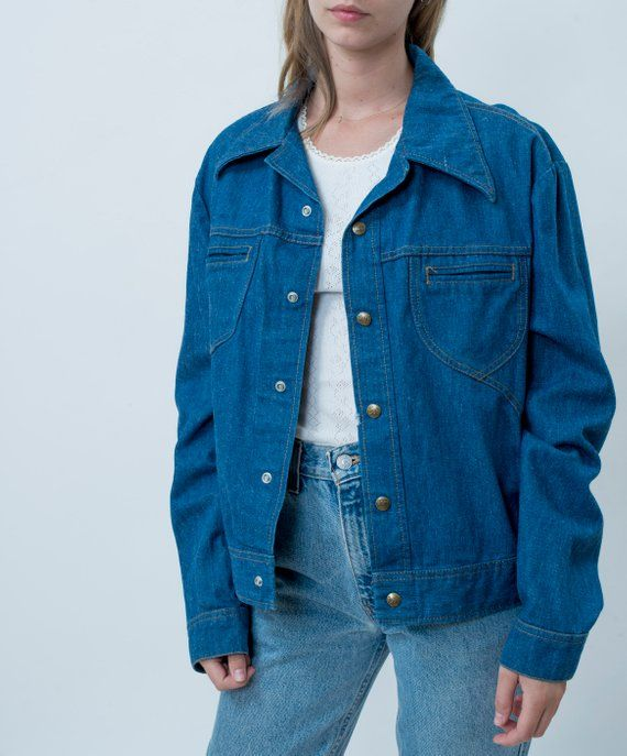 lee jean jacket | 70s lee denim jacket | lee set bright blue