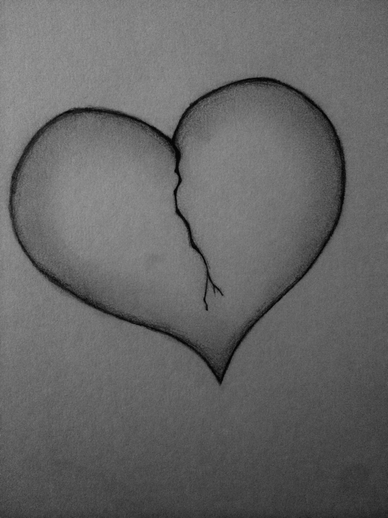 broken heart sketch #drawing #brokenheart | artsy fartsy | pinterest