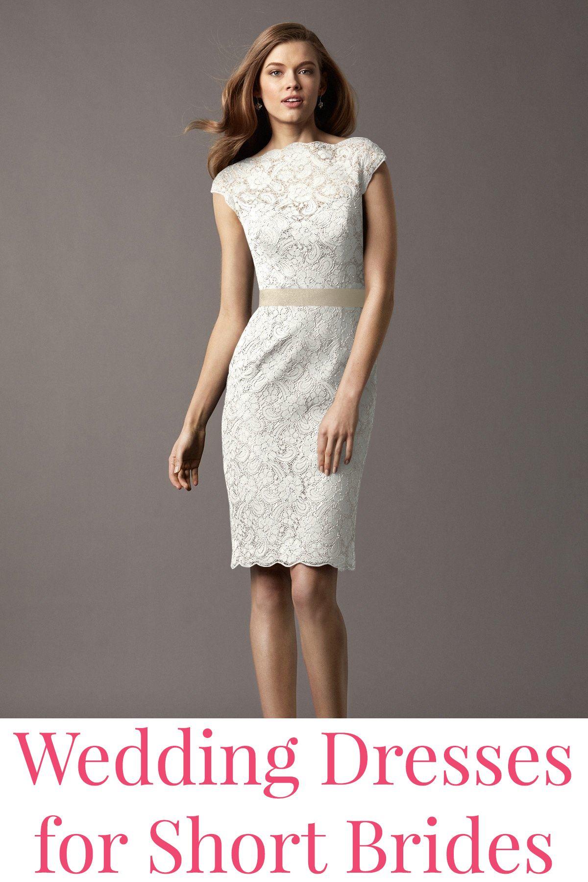 Wedding dresses for short brides short bride gowns and wedding shoppe