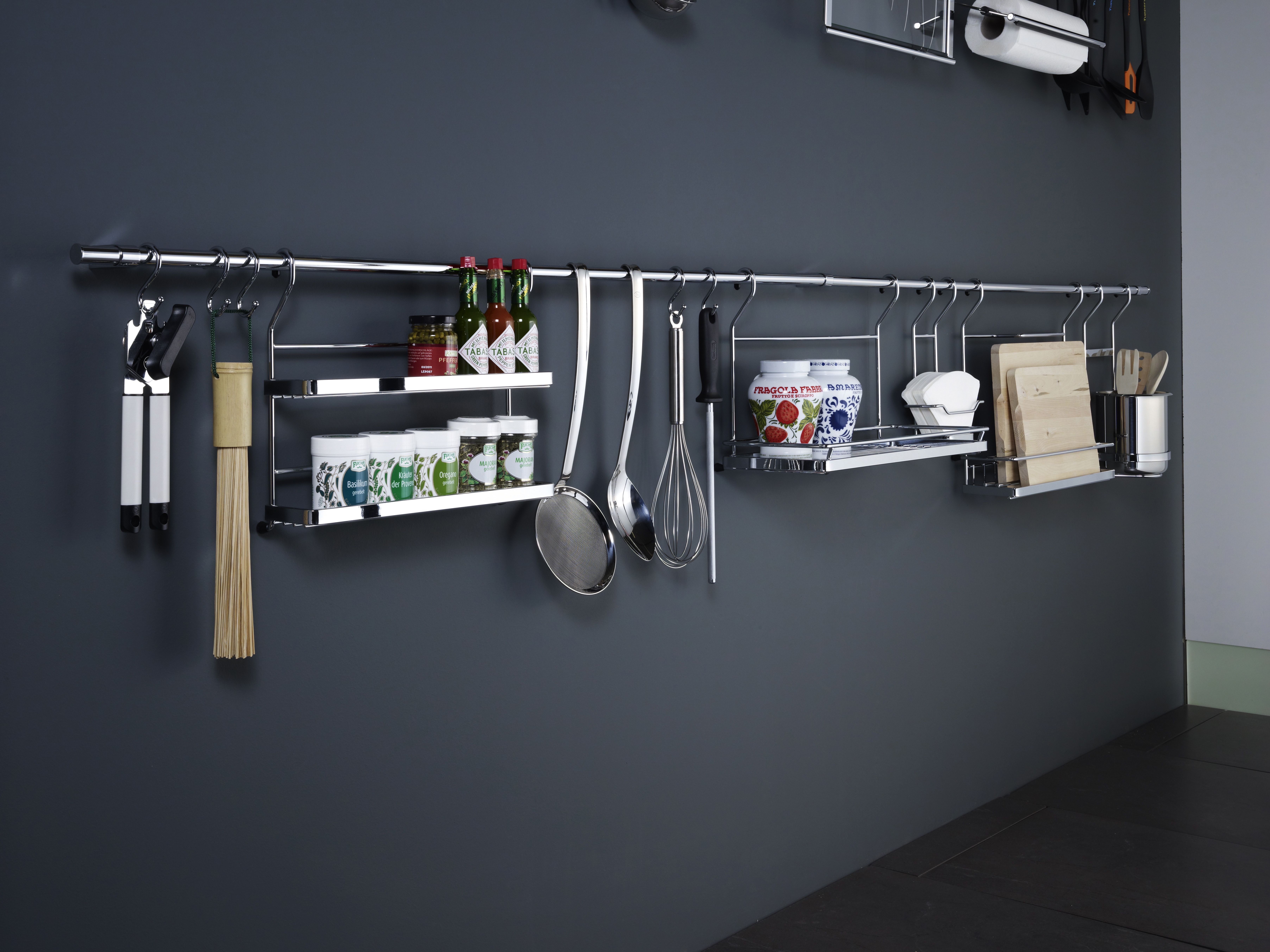 The Linero backsplash system can be built to just about any size, and can have any variety of attachments on it.
