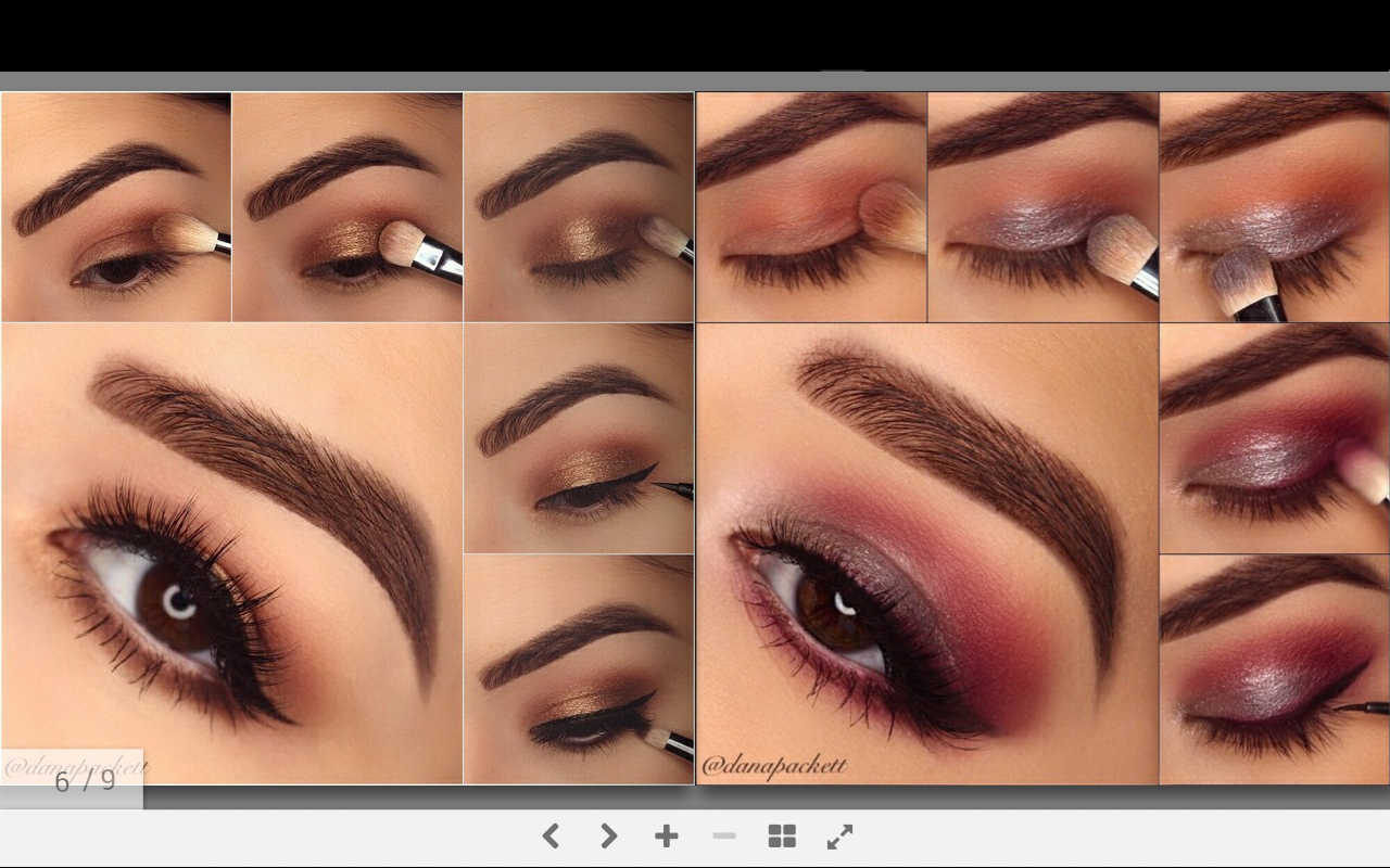How to apply smokey eyeshadow step by step image led apply