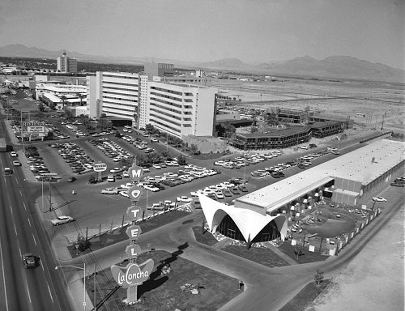 La concha motel las vegas strip riviera seen in for Riviera resort las vegas