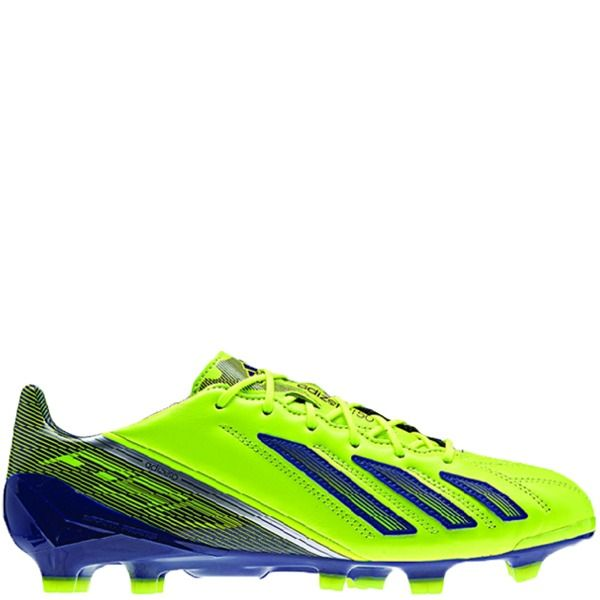 adidas F50 Adizero TRX FG Electricity/Hero Ink/Metalic Silver Leather  Soccer Cleats -
