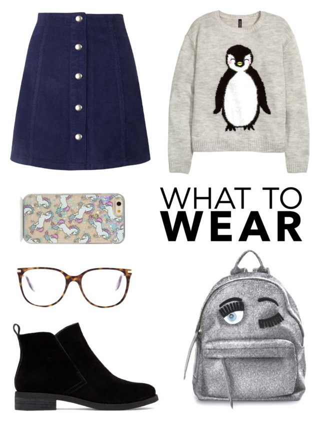 """Penguins and unicorns"" by nathaliagoomes on Polyvore featuring Topshop, Lucky Brand, H&M, Chiara Ferragni, Victoria Beckham, women's clothing, women's fashion, women, female and woman"