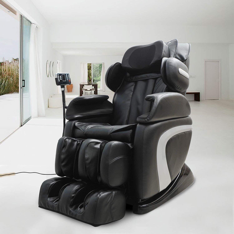 Homcom Luxury Reclining Leather Massage Chair Automatic Zero