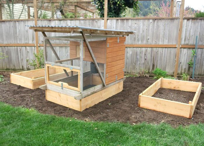How To Build Raised Garden Beds To Fit The Garden Ark Mobile Chicken Tractor For The Birds