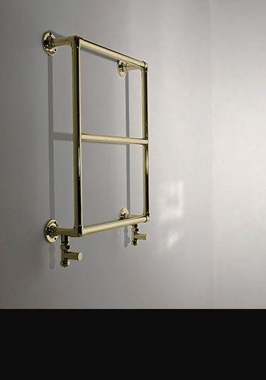 mini classic gold heated towel rail 111cc
