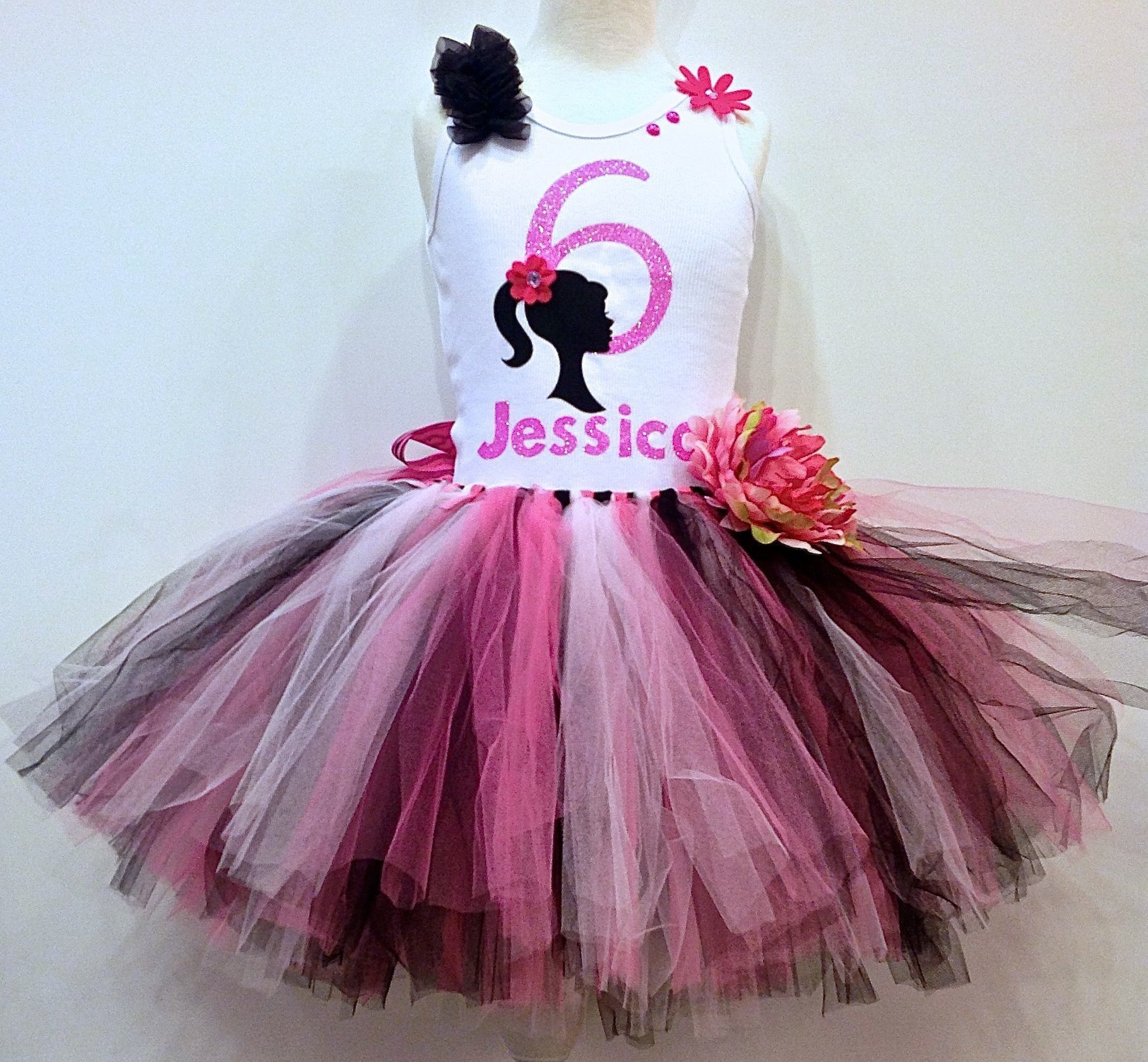 Barbie inspired personalized birthday outfit birthday