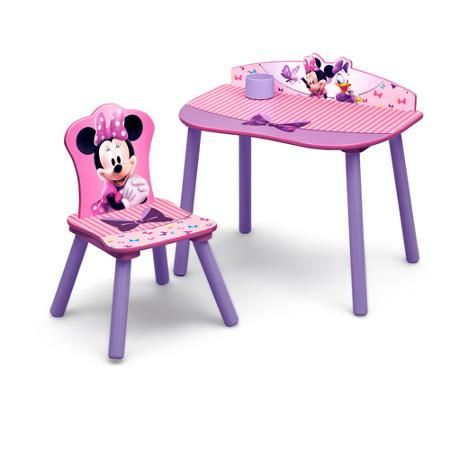 Wondrous Disney Minnie Mouse Desk And Chair Set Brooklyns Boutique Caraccident5 Cool Chair Designs And Ideas Caraccident5Info