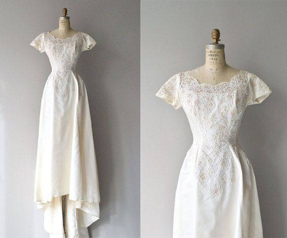 Dolce Cuore wedding gown | 1950s wedding dress | vintage 50s wedding ...