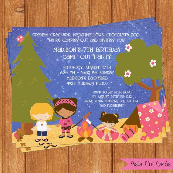 graphic regarding Free Printable Camping Birthday Party Invitations identify Cost-free Printable Tenting Birthday Invites Young children Birthday