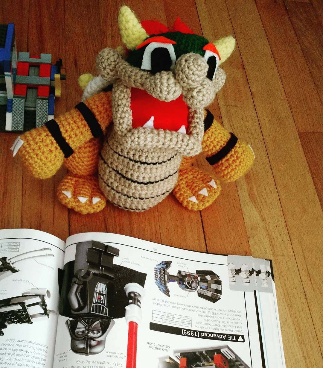 callmeyarn Bowser is studying the work of the masters. #mario ...