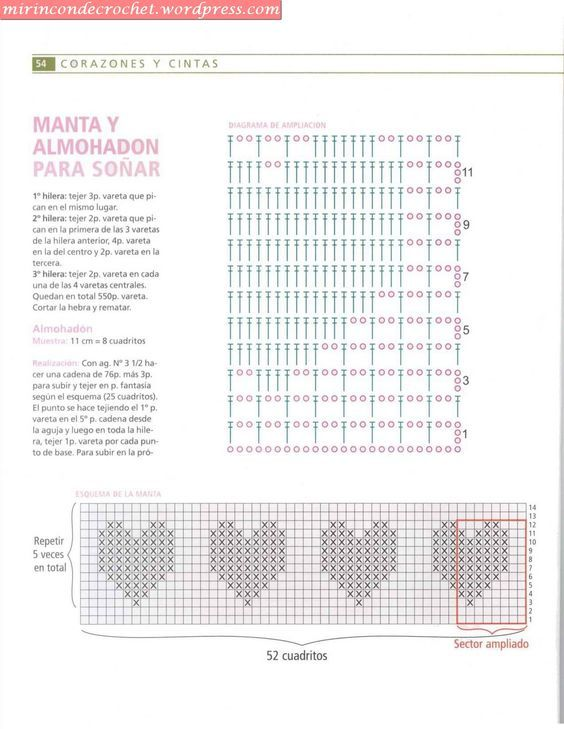 patrones-corazones-punto-red-ganchillo-1.jpg 564×729 píxeles | bolso ...