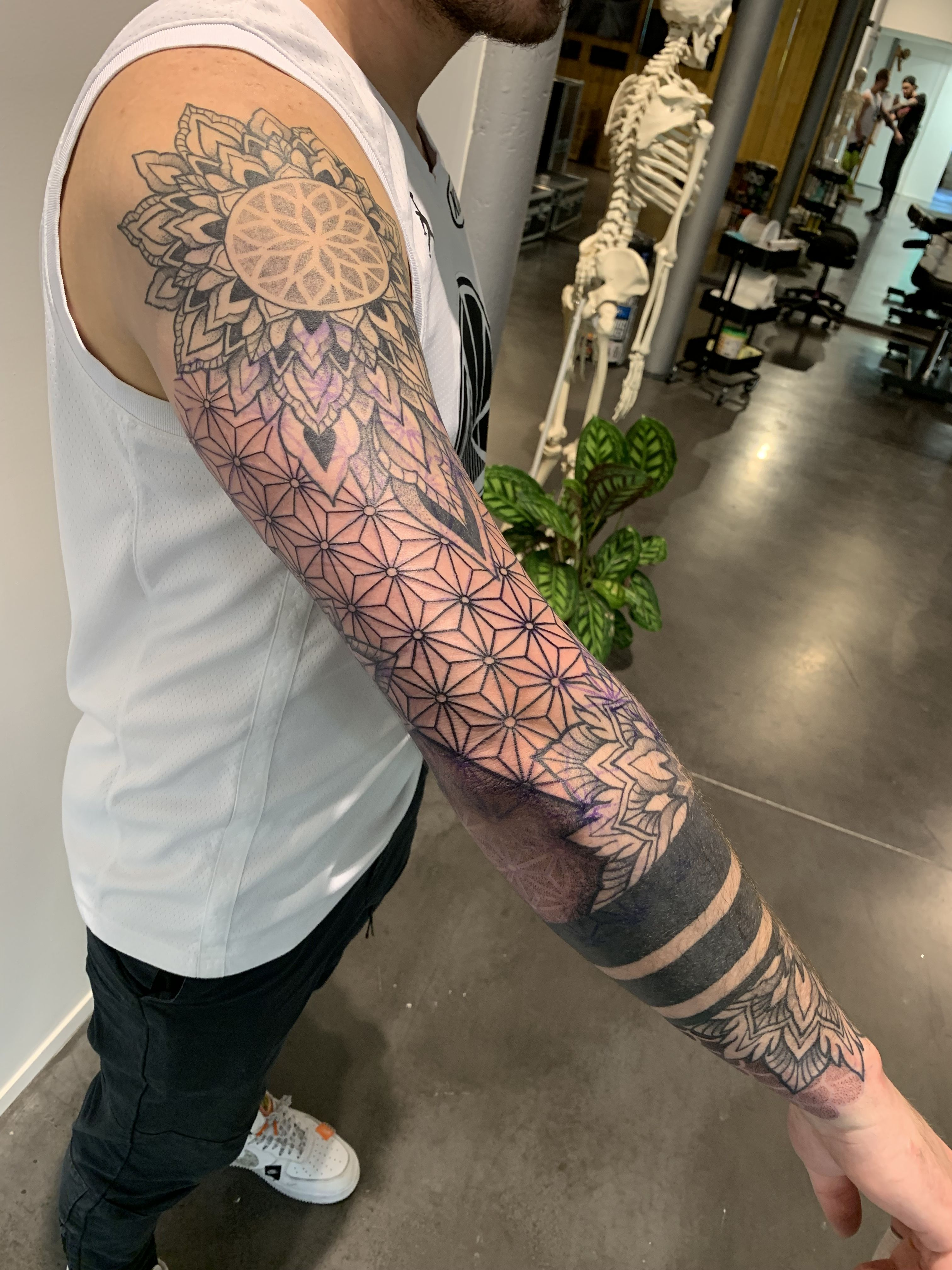 Pin By Fridaypayday On Tattoo Designs Tribal Tattoos Geometric Tribal Tattoo Geometric Sleeve Tattoo