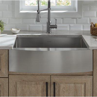 American Standard Pekoe Stainless Steel 30 L X 22 W Farmhouse Kitchen Sink With Sink Grid And Drain Assembly In 2020 Farmhouse Sink Kitchen Kitchen Design Undermount Kitchen Sinks