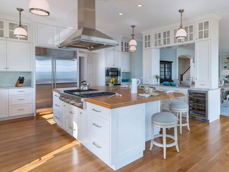 Large Kitchen Island With Stove Davitt Design Build