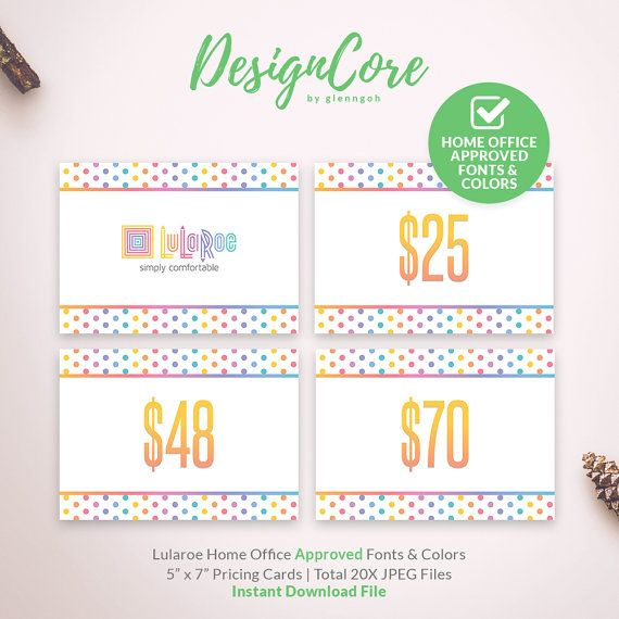 lularoe pricing card home office approved lularoe price signs