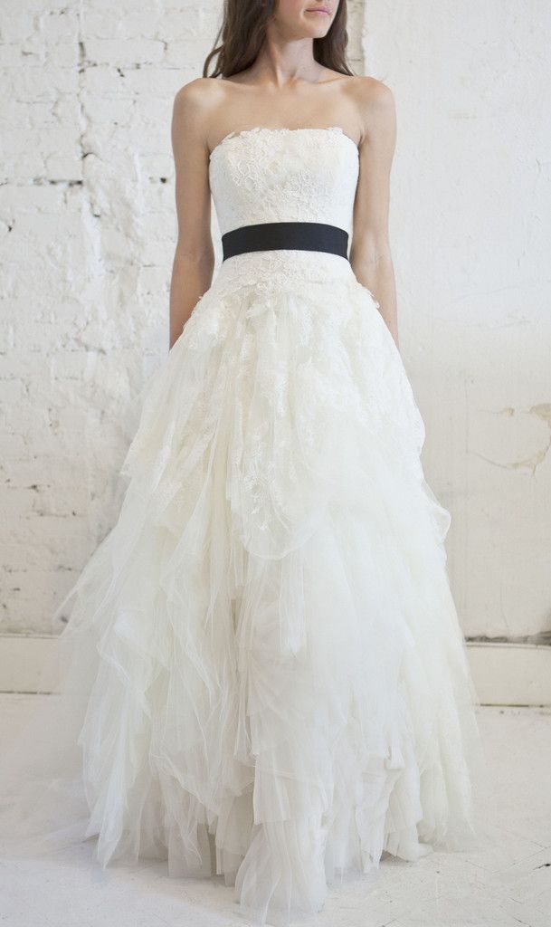 Vera Want 'Eliza' Lace & Tulle Princess Gown