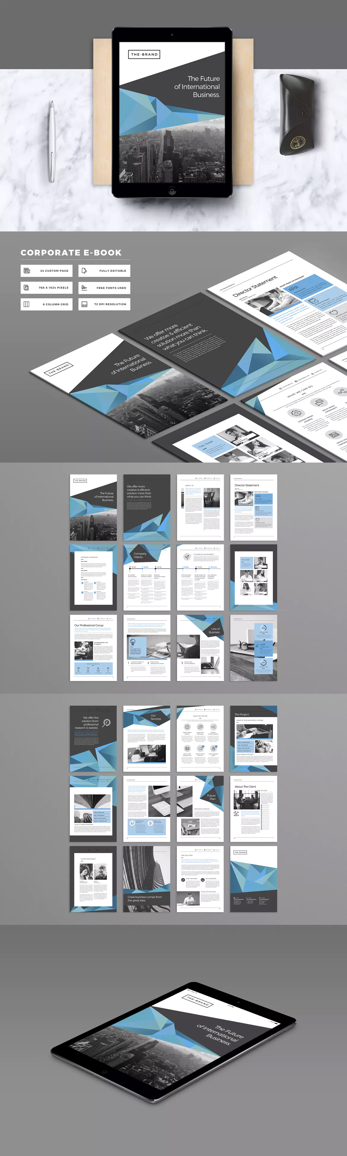Corporate E-Book Template InDesign INDD - 24 Pages | e-Publishing ...