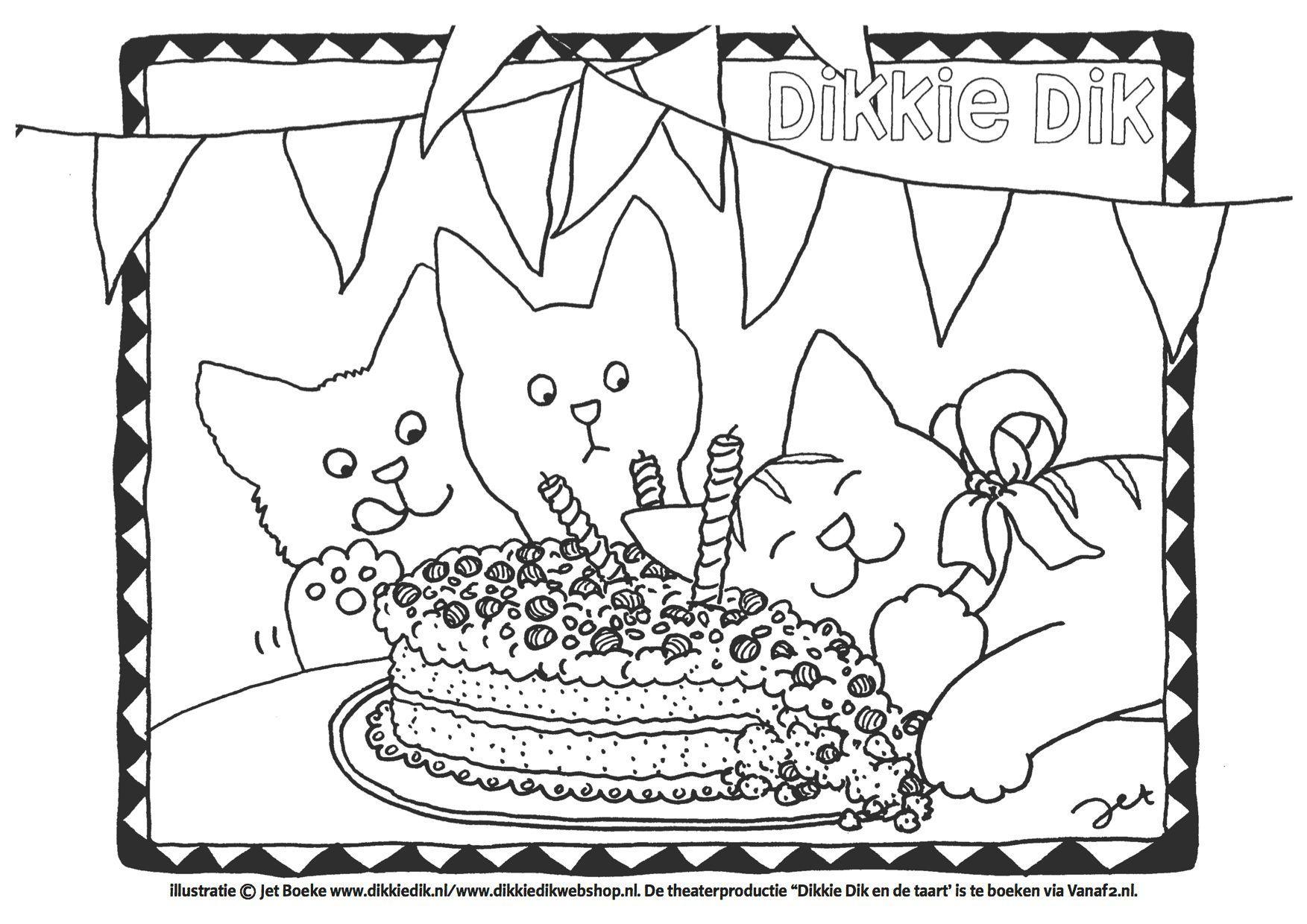 kleurplaten volwassenen verjaardag