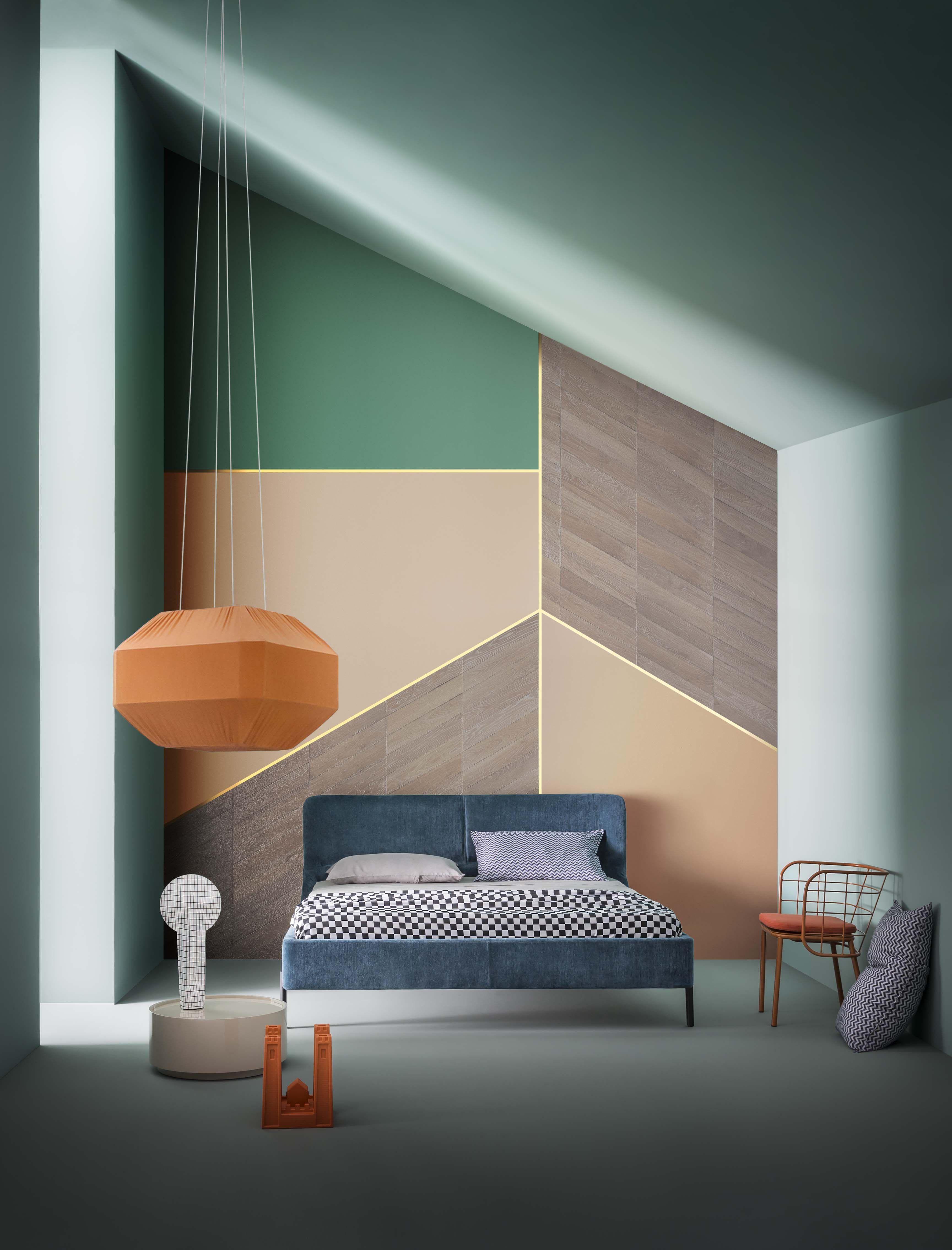 Prachtig Kleurenpalet! WandgestaltungInnenarchitekturKorridorGlasvaseModernes  WohnenWandverkleidungFarbkonzeptParkettSchlafzimmer