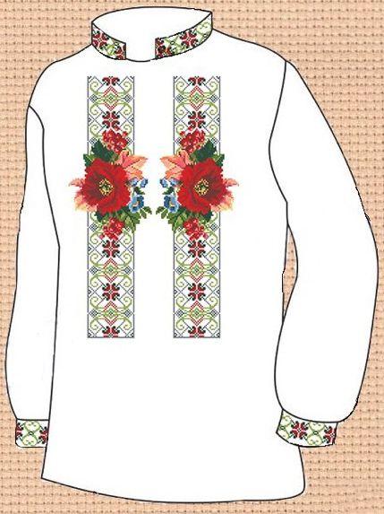 Заготовка для вишивки чоловічої сорочки (СЧ-107)