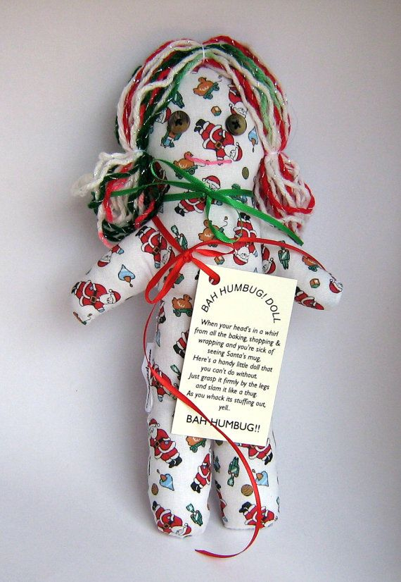 BAH HUMBUG Holiday Stress Relief Doll by CreatedbyLee on Etsy