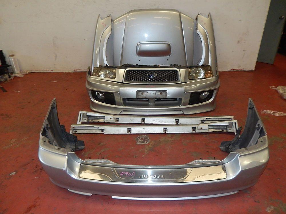 Jdm Subaru Forester Sg5 Sti Front Conversion Bumper Hood Headlights Fender 03 05 Jdm Subaru Subaru Forester Subaru