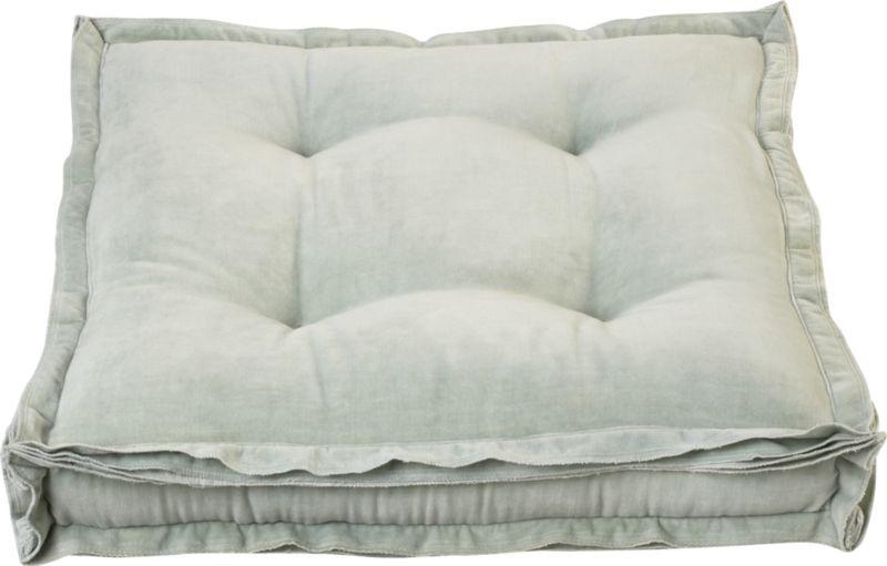 Velvet Mint 23 Quot Floor Pillow Cb2 Home Accents Floor