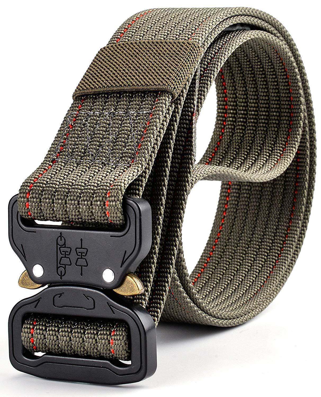 Ayli Men's Tactical Rigger's Web Belt Military Heavy Duty