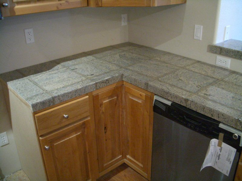 Granite Tile Kitchen Countertop And Bar Countertops Kitchen