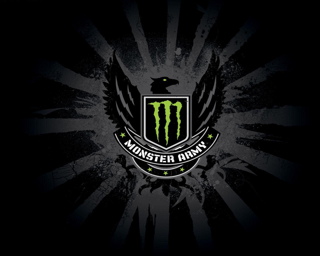 Monster Army Hd Wallpaper Energy Logo Monster Energy Drink Logo Monster