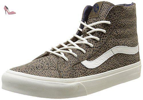 UA Sk8-Hi Slim, Sneakers Hautes Femme, Beige (Pale Khaki/True White), 36.5 EUVans