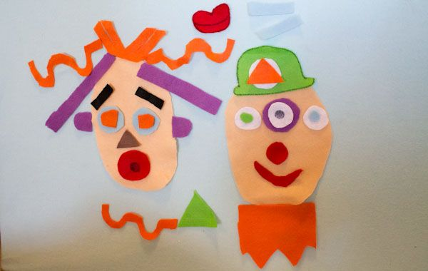 National Goof Off Day ideas for families and kids. Fun silly felt face activity for flannel board