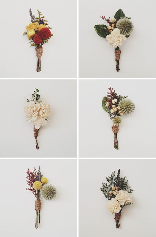 How pretty are these boutonnieres? #Weddings