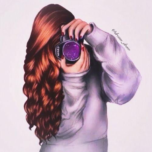 Girl In Photography Oxox Curly Hair Love Girly Things Digital Art Girl Cute Girl Drawing Girls Cartoon Art