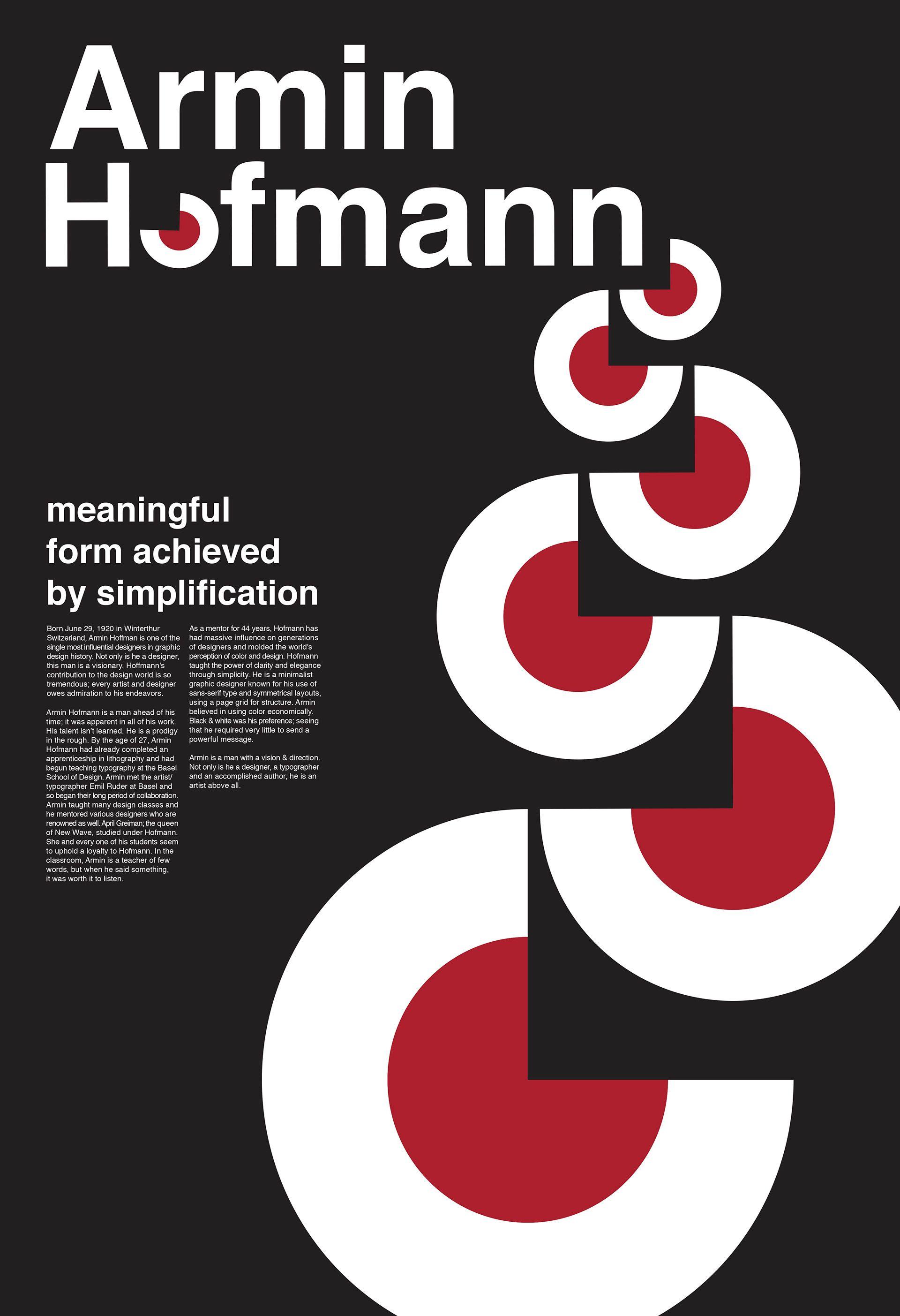 brandon stacey - Armin Hofmann poster