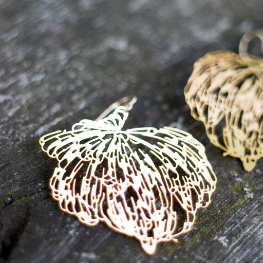 Nervous System Undergrowth Earrings 24KT Gold Plated, made in Massachusetts