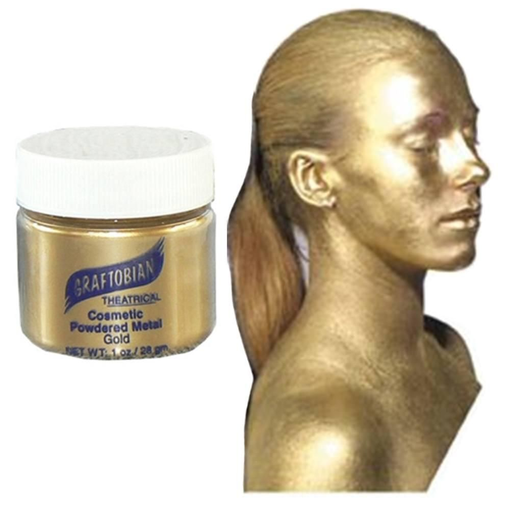 Graftobian Cosmetic Powdered Metal Gold Gold Face Paint Face Paint Makeup Body Painting