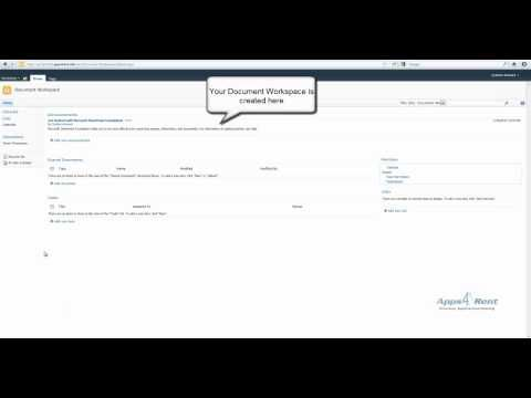 \n        How to Sharepoint: How to create Document Workspace in SharePoint Foundation 2010.mp4\n      - YouTube\n
