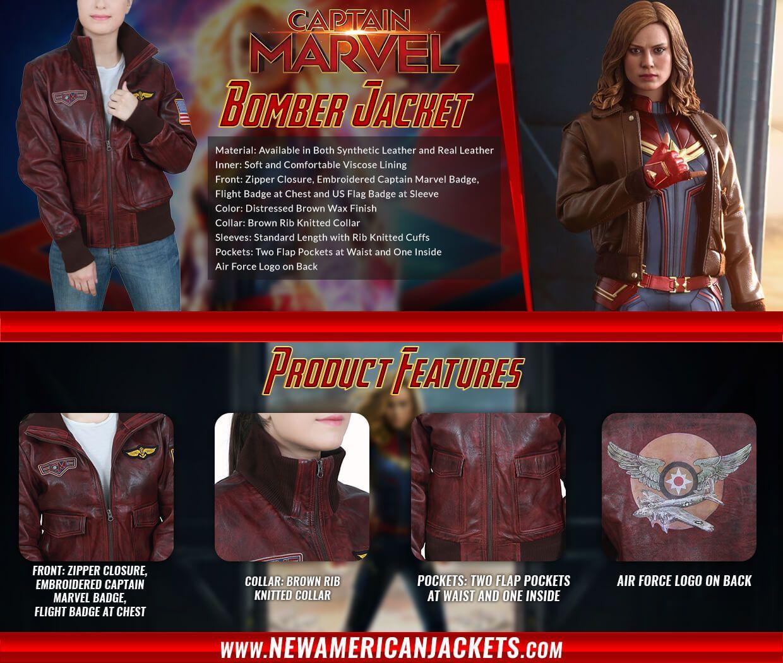 Carol Danvers Captain Marvel Bomber Jacket New American Jackets Captain Marvel Captain Carole [ 1050 x 1240 Pixel ]